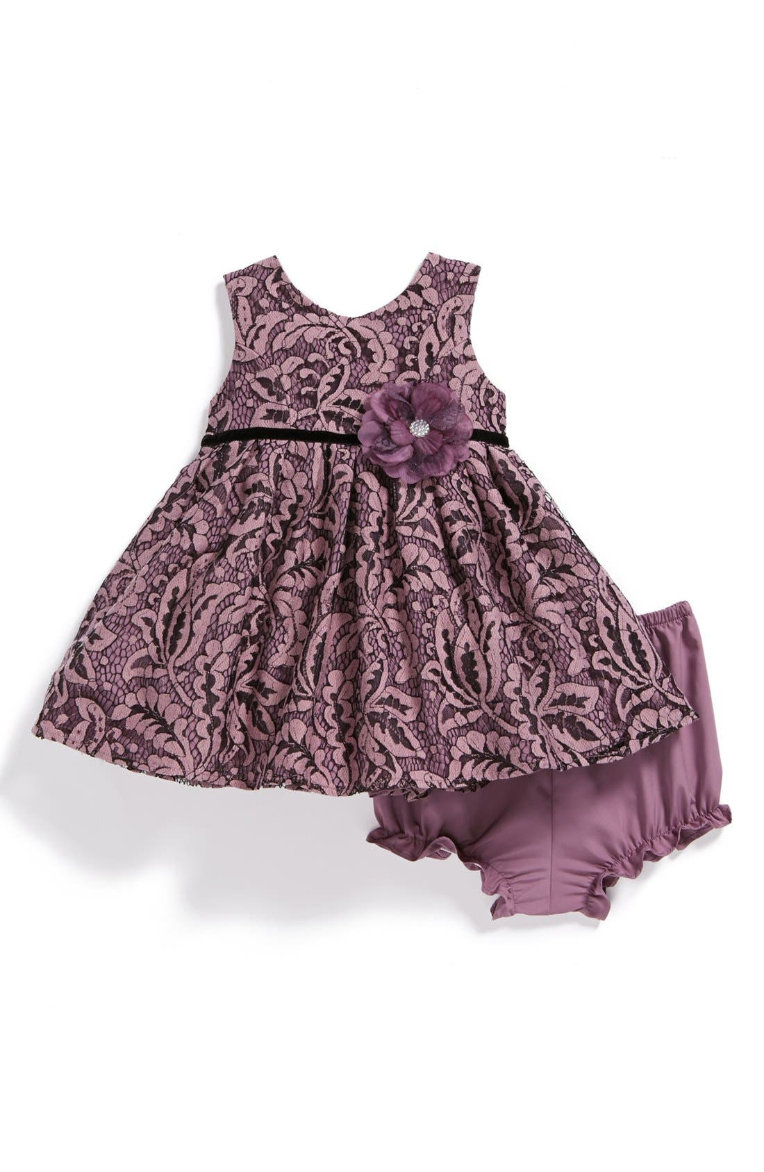Alternate Image 1 Selected - Pippa & Julie Lace Dress (Baby Girls)