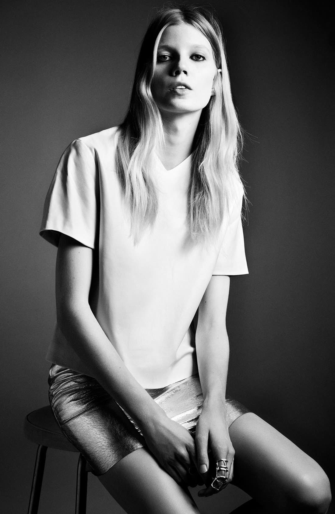 Alternate Image 4  - Topshop 'The Collection Starring Kate Bosworth' Leather Tee