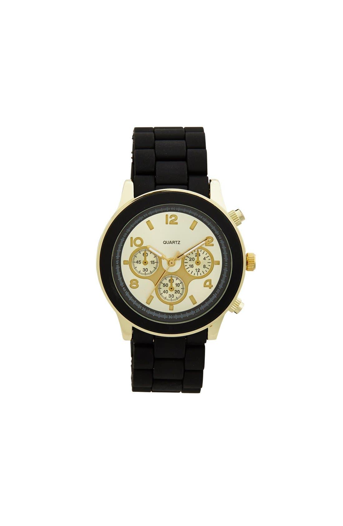Main Image - Titanium Rubber Strap Bracelet Watch, 45mm (Juniors) (Online Only)