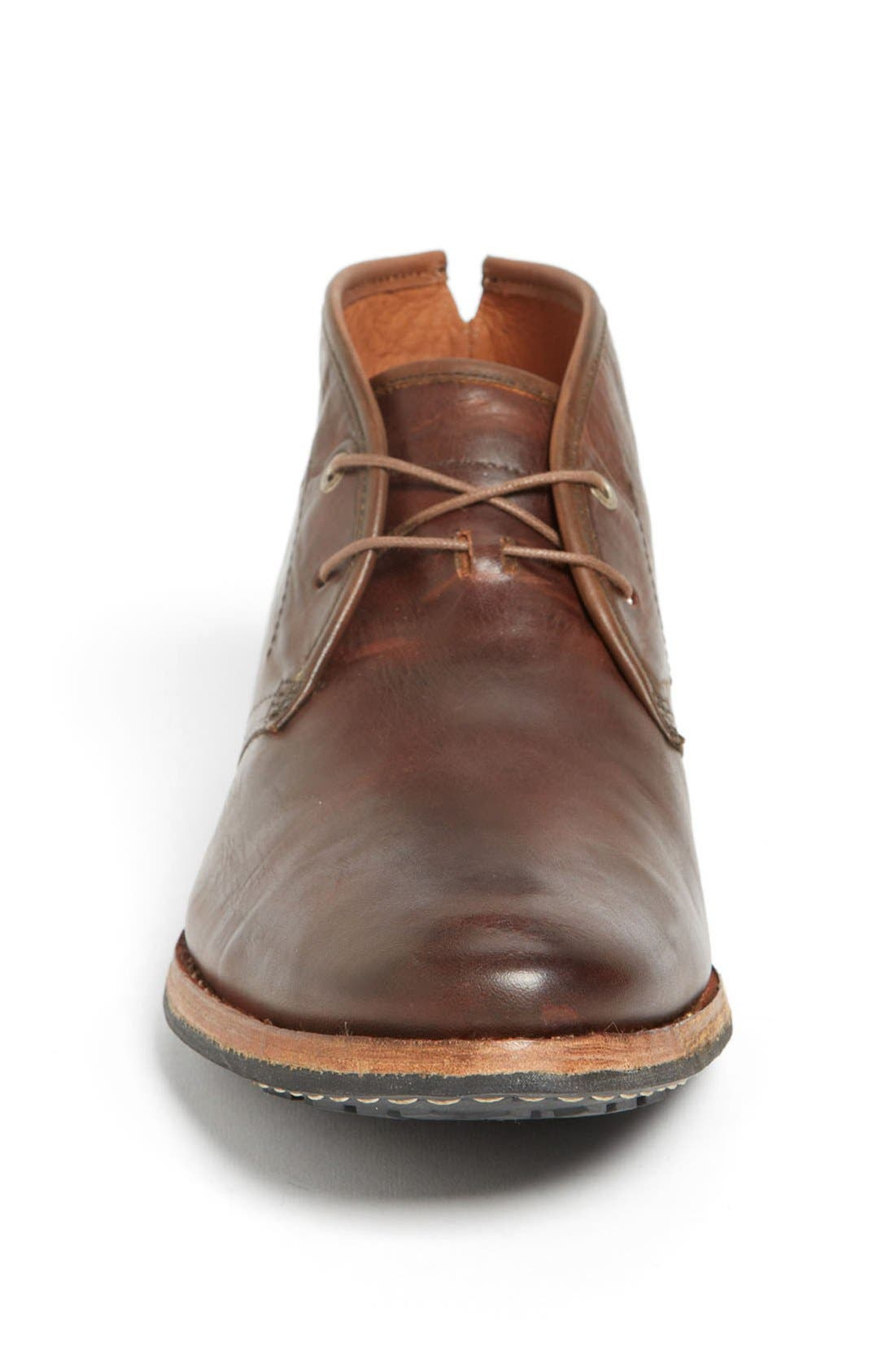 Wodehouse Lost History Chukka Boot,                             Alternate thumbnail 3, color,                             Burnished Dark Brown Leather