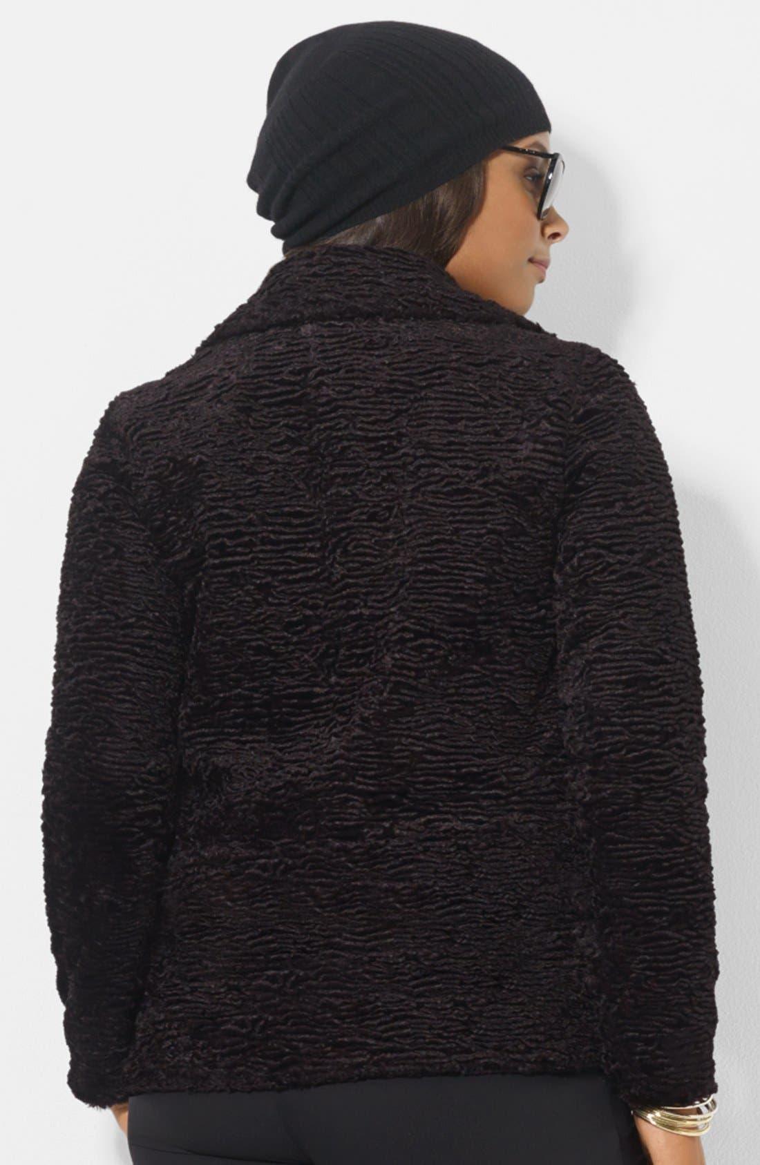 Alternate Image 2  - Lauren Ralph Lauren Textured Jacket (Plus Size)