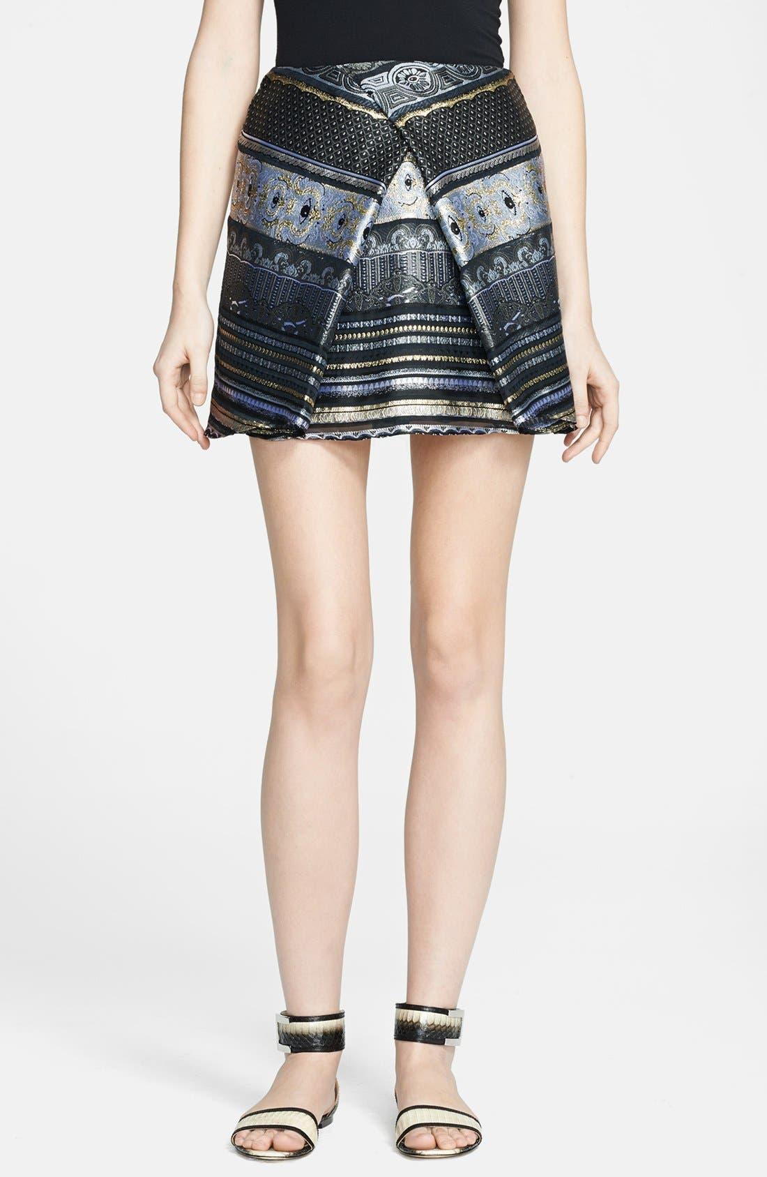 Main Image - KENZO Invert Pleat Jacquard Miniskirt