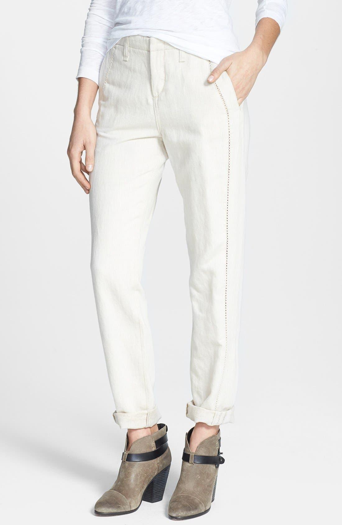 Alternate Image 1 Selected - rag & bone/JEAN 'Separating Portobello' Open Detail Pants