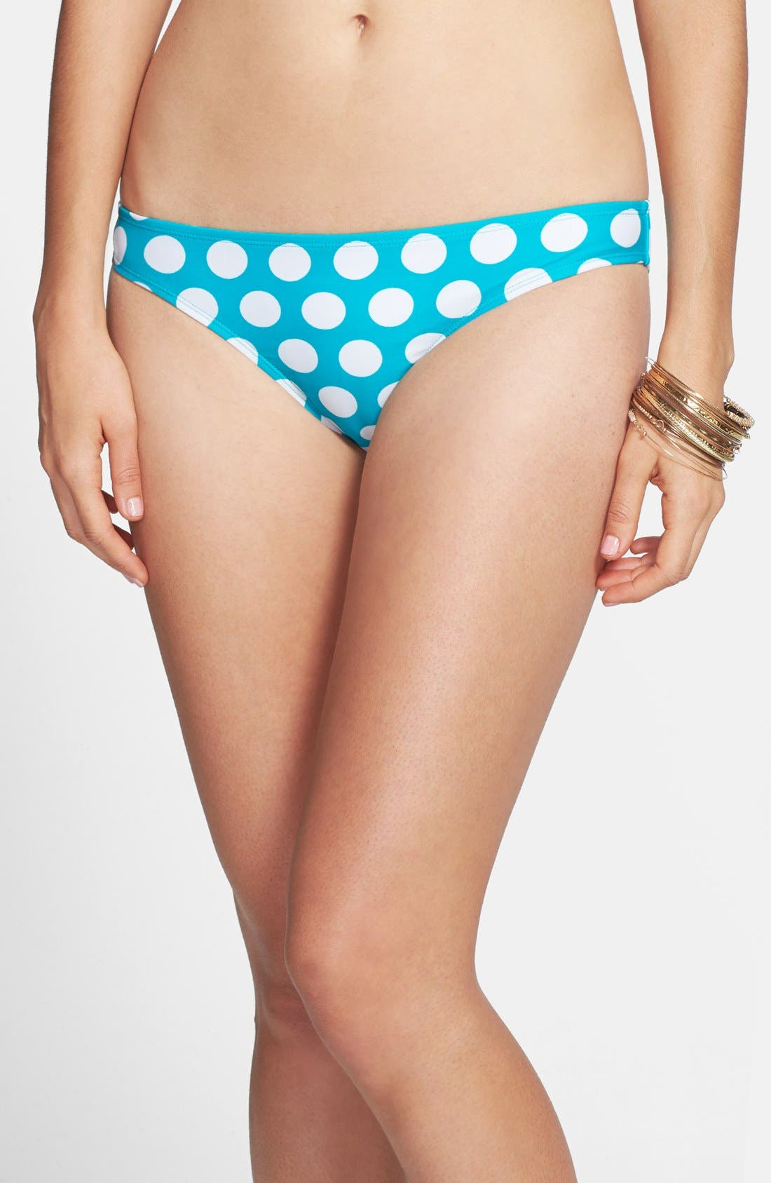 Alternate Image 2  - BP. Dot Print Bow Back Bikini Bottoms (Juniors)
