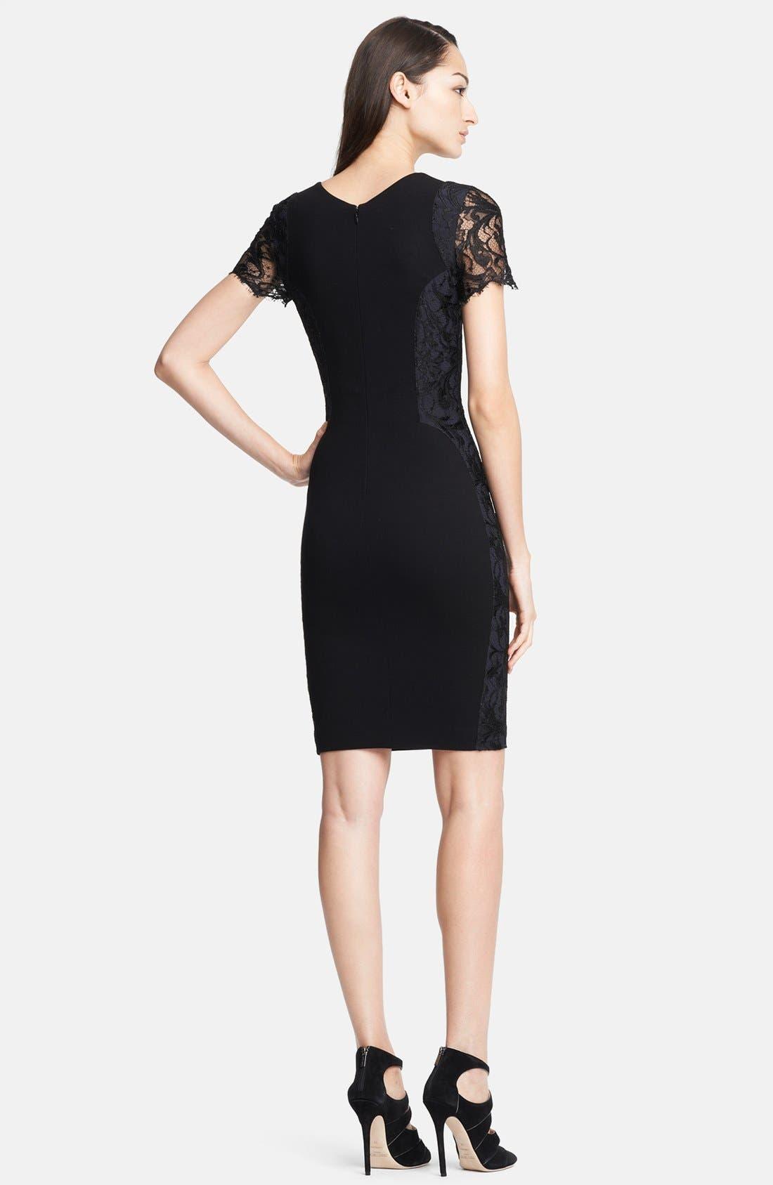 Alternate Image 2  - Emilio Pucci Lace Shoulder Punto Milano Dress