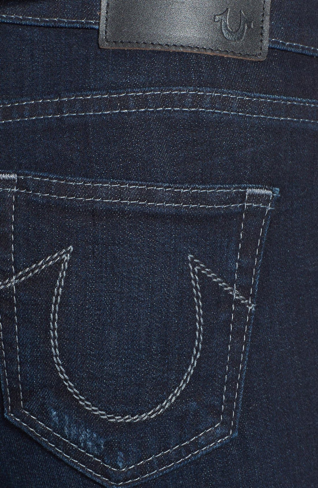 Alternate Image 3  - True Religion Brand Jeans 'Abbey' Super Skinny Jeans (Baltic Ink)