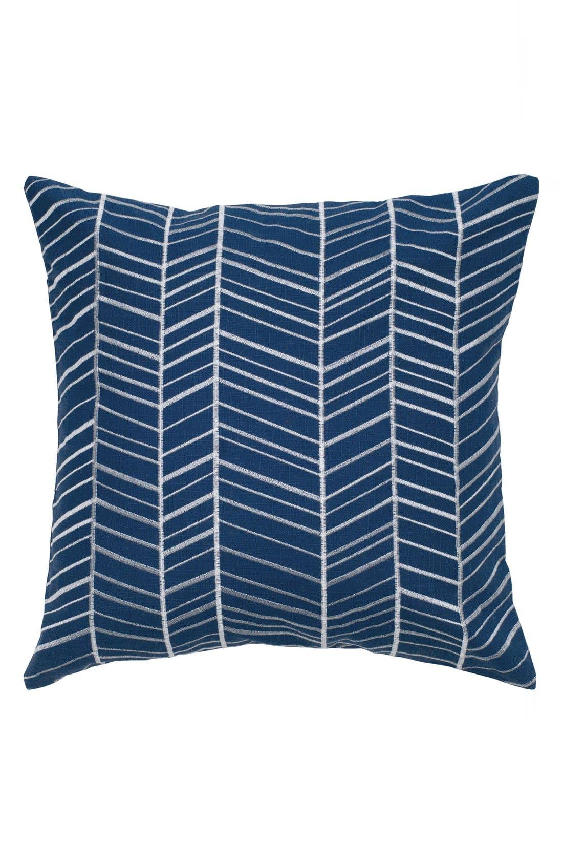 Chevron Pillow,                             Main thumbnail 1, color,                             Blue