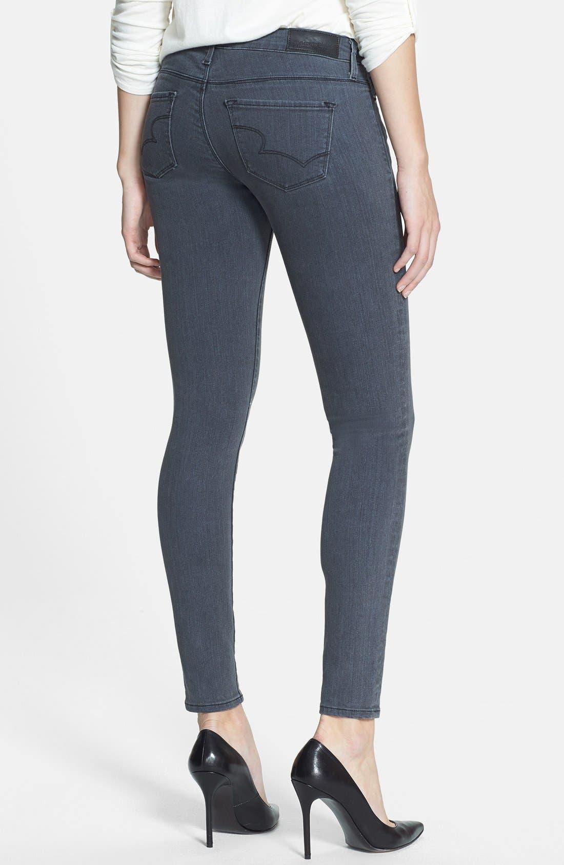 Alternate Image 2  - Big Star 'Alex' Stretch Skinny Jeans (Liverpool) (Petite)
