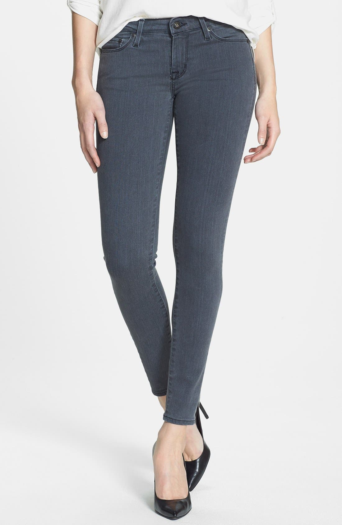 Alternate Image 1 Selected - Big Star 'Alex' Stretch Skinny Jeans (Liverpool) (Petite)