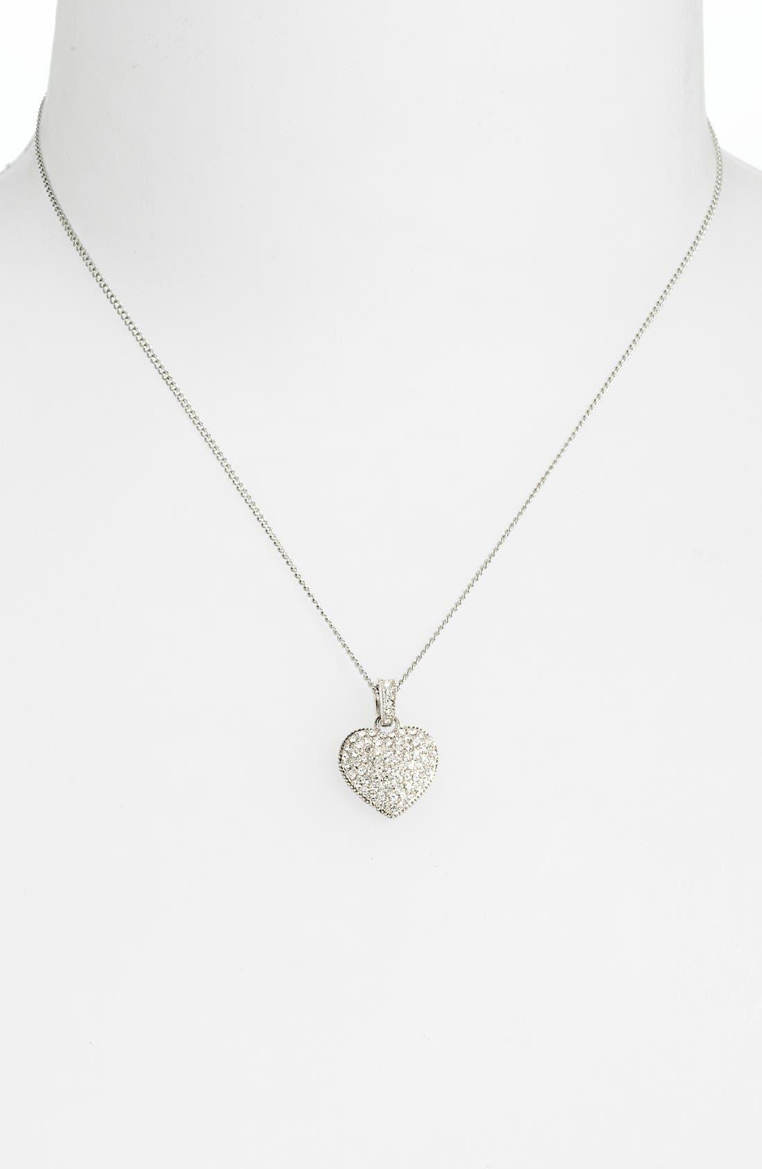 Alternate Image 2  - Judith Jack Reversible Pavé Heart Pendant Necklace