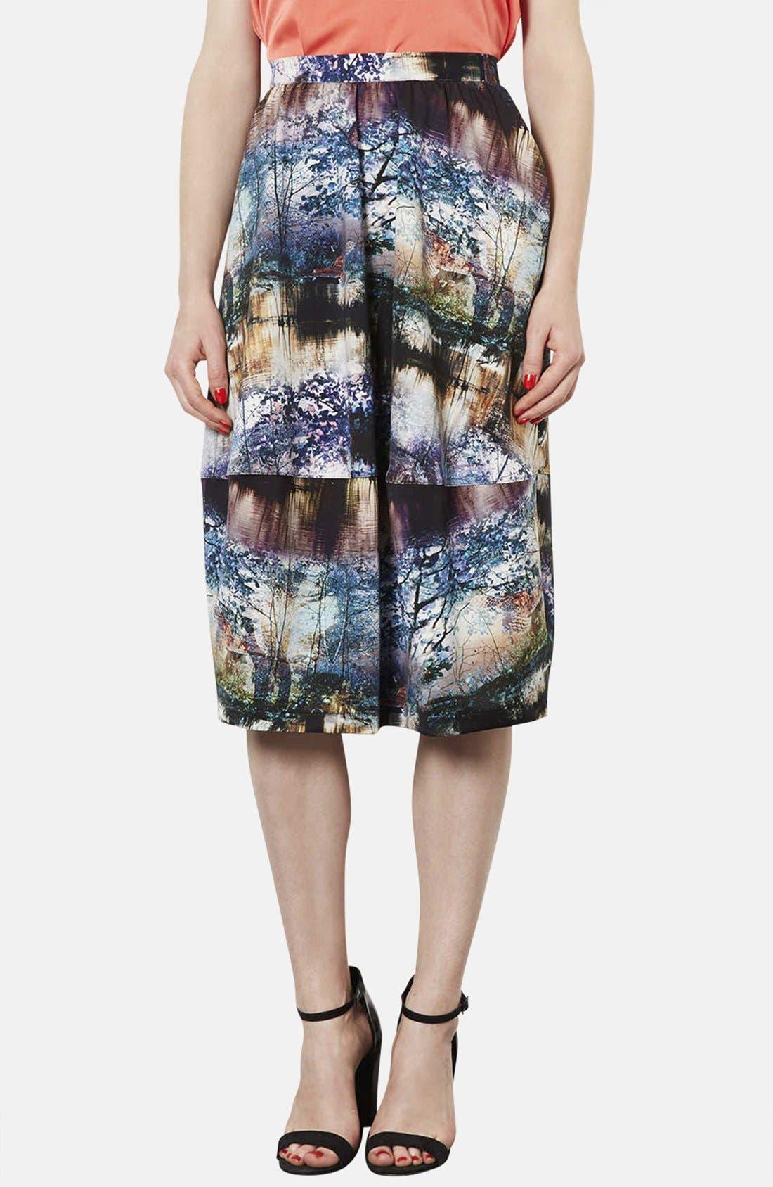 Alternate Image 1 Selected - Topshop Photorealistic Print Midi Skirt