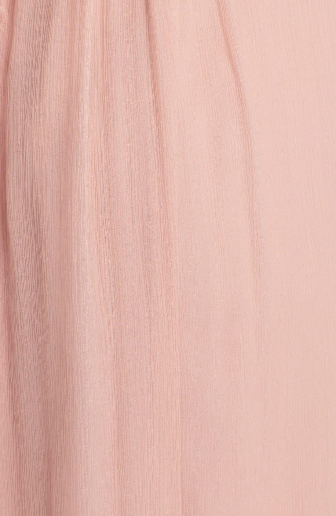 Alternate Image 3  - Amsale Cap Sleeve Chiffon Gown