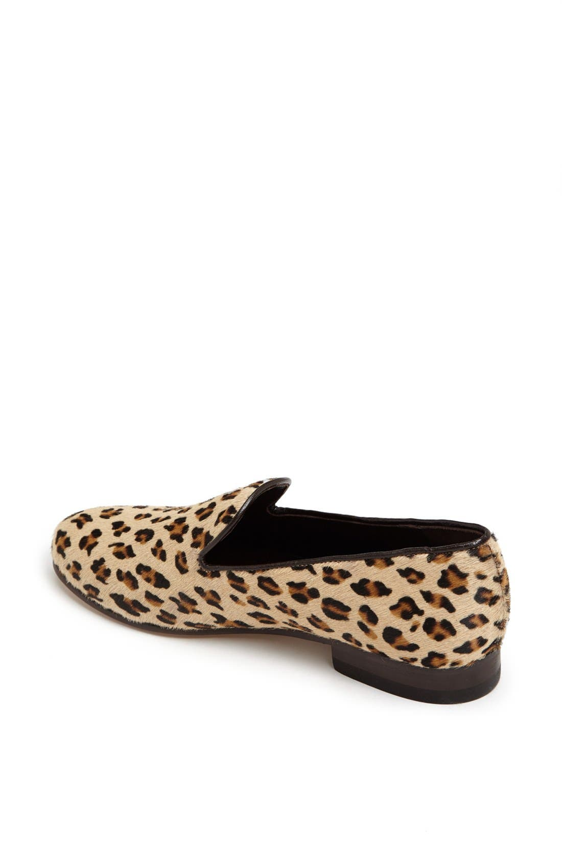 Alternate Image 2  - CB Made in Italy Leopard Print Slipper Flat