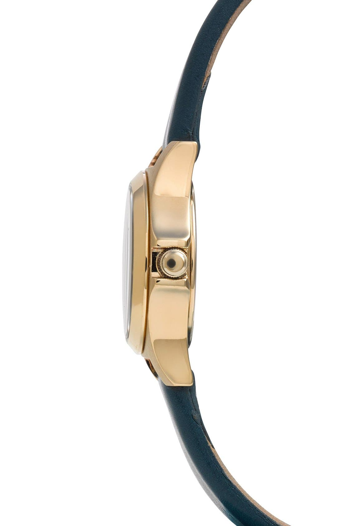 Alternate Image 3  - MARC JACOBS 'Henry Dinky' Leather Strap Watch