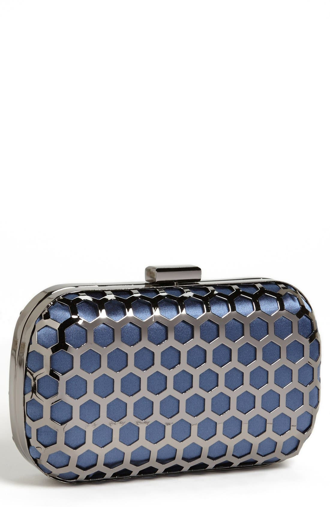 Main Image - Expressions NYC Hexagonal Box Clutch