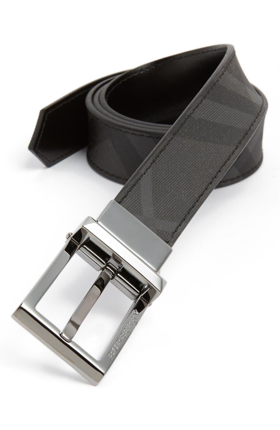 Alternate Image 1 Selected - Burberry 'Webster' Reversible Belt