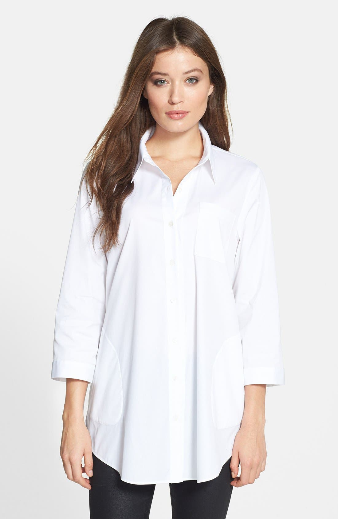 Main Image - Lafayette 148 New York 'Tierny - Excursion Stretch' Tunic Shirt