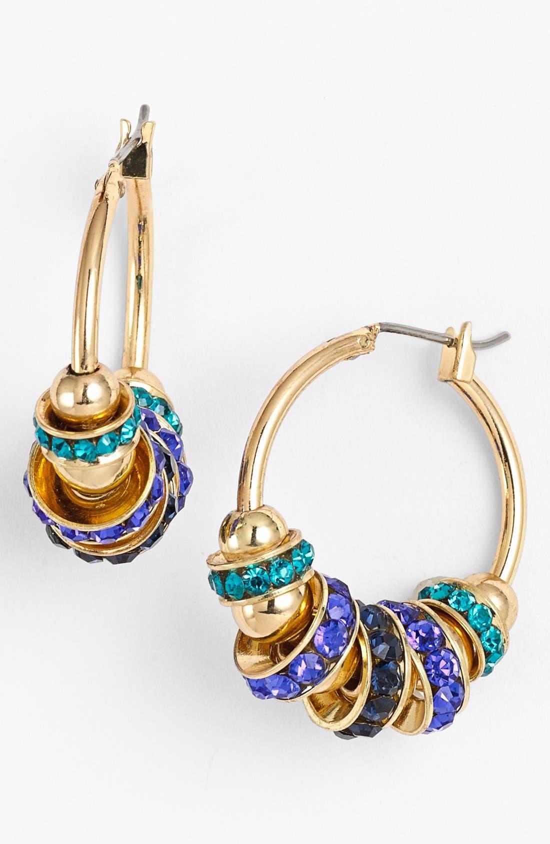 Alternate Image 1 Selected - Anne Klein Beaded Hoop Earrings