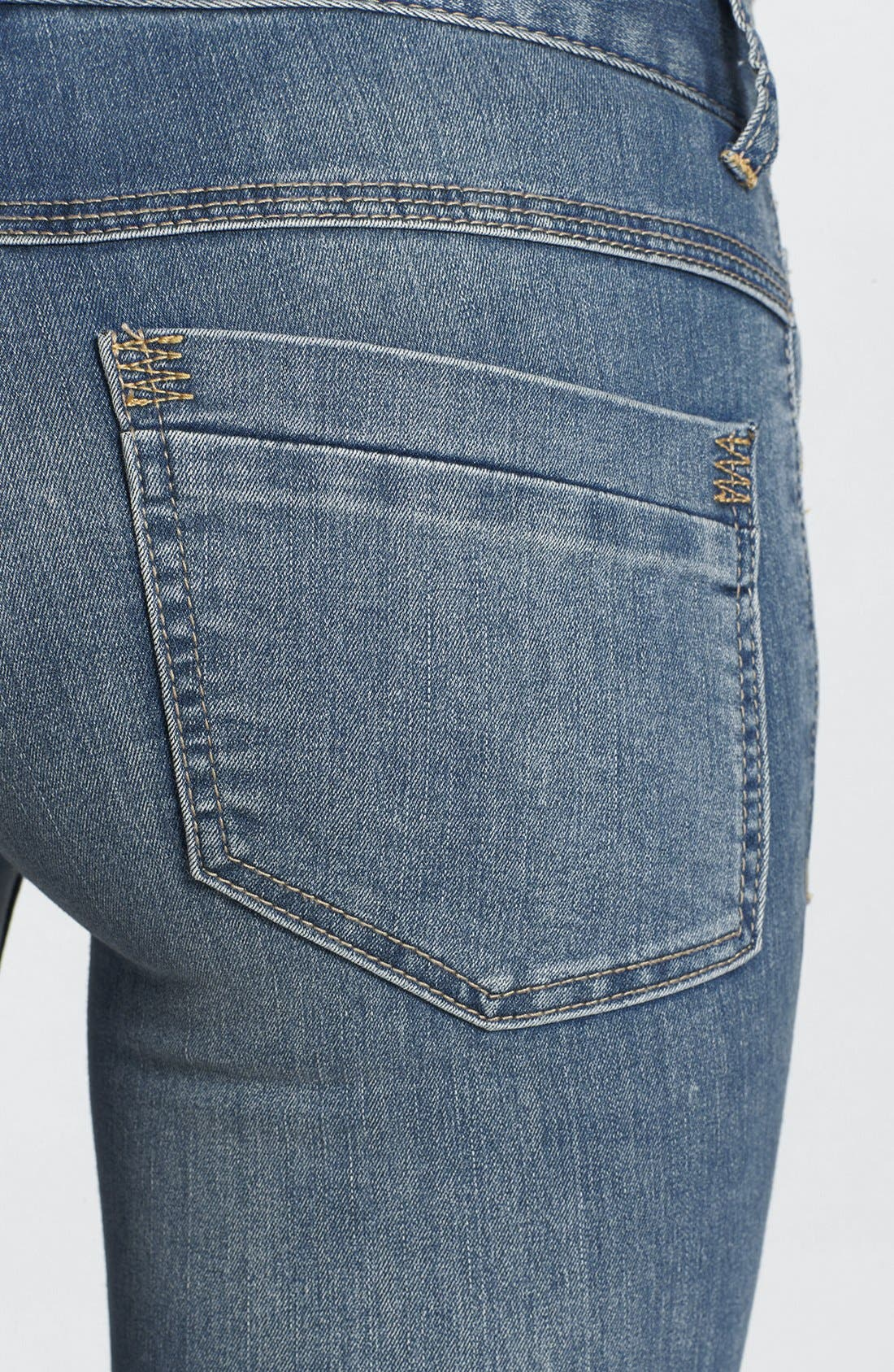 Alternate Image 3  - Free People Lightweight Stretch Skinny Jeans (Ocean Blue)