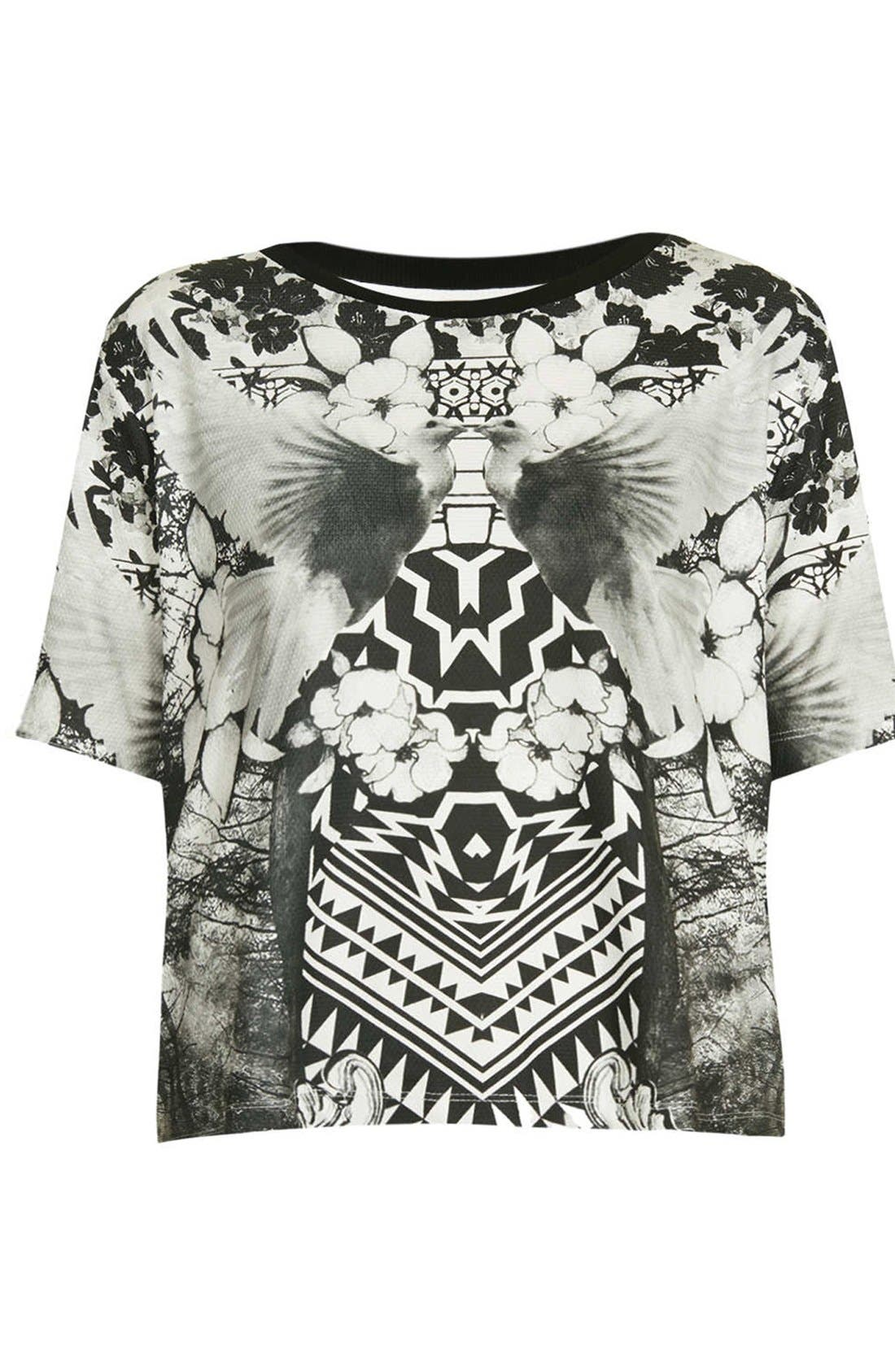 Alternate Image 3  - Topshop Dove Print Graphic Tee
