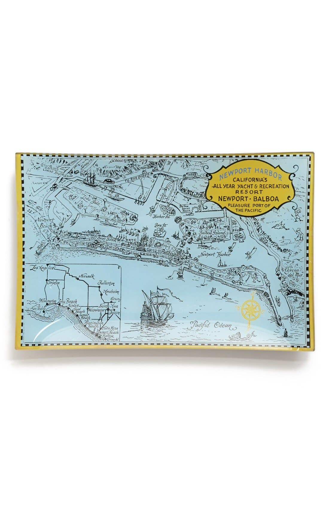 Main Image - Ben's Garden 'Orange County Map' Tray