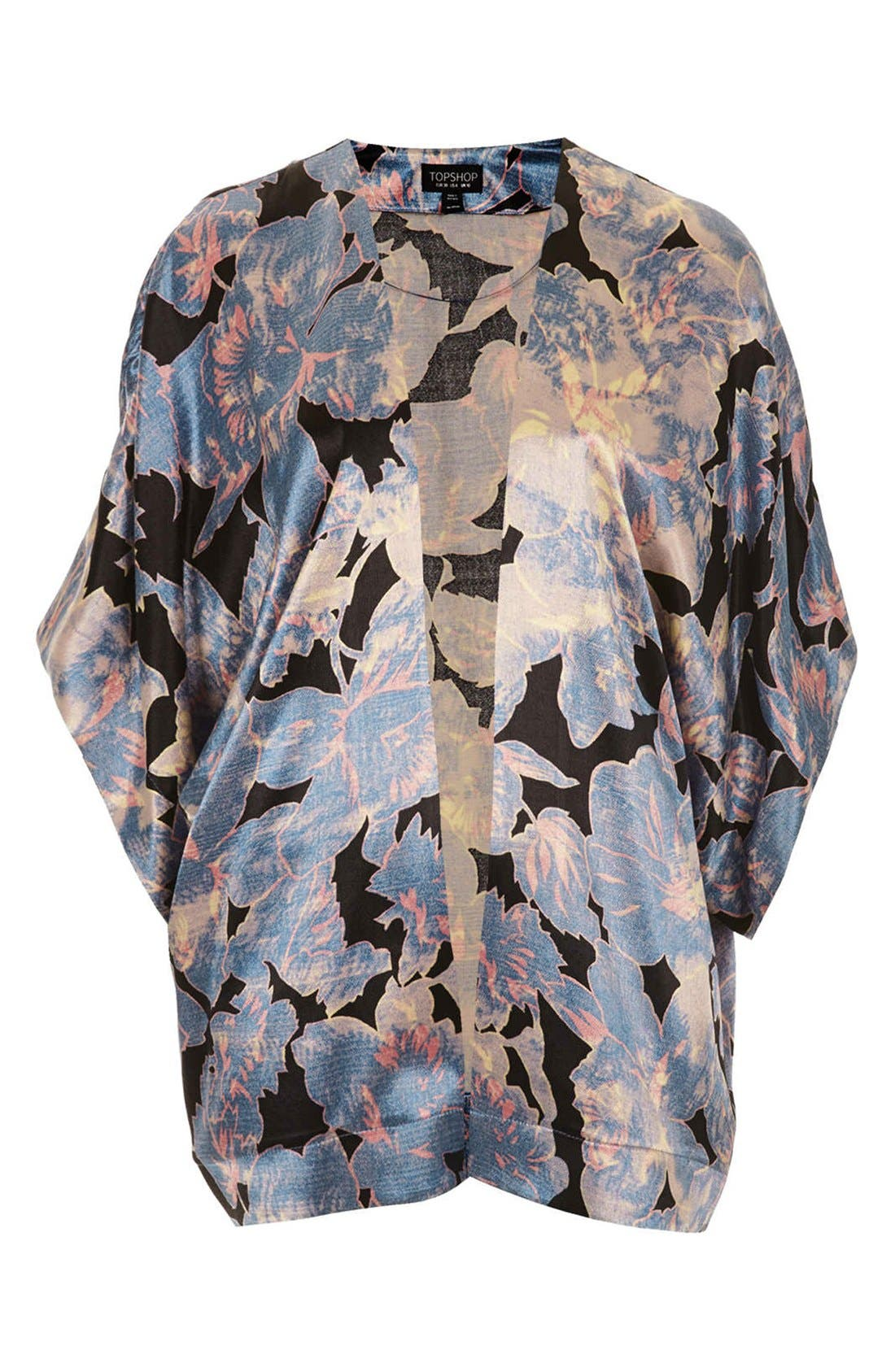 Alternate Image 3  - Topshop 'Chateau Femme' Print Satin Kimono Jacket