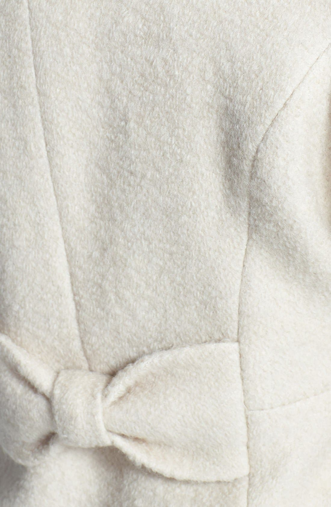 Alternate Image 3  - GUESS Envelope Collar Double Breasted Bouclé Coat (Petite)