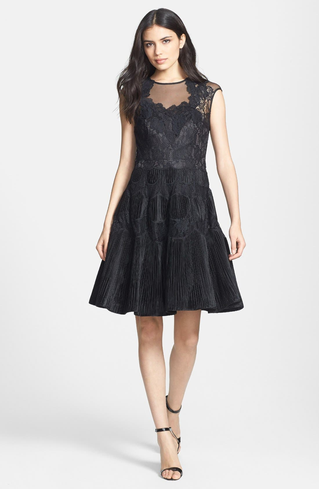 Alternate Image 1 Selected - Ted Baker London 'Quetiaa' Lace Fit & Flare Dress