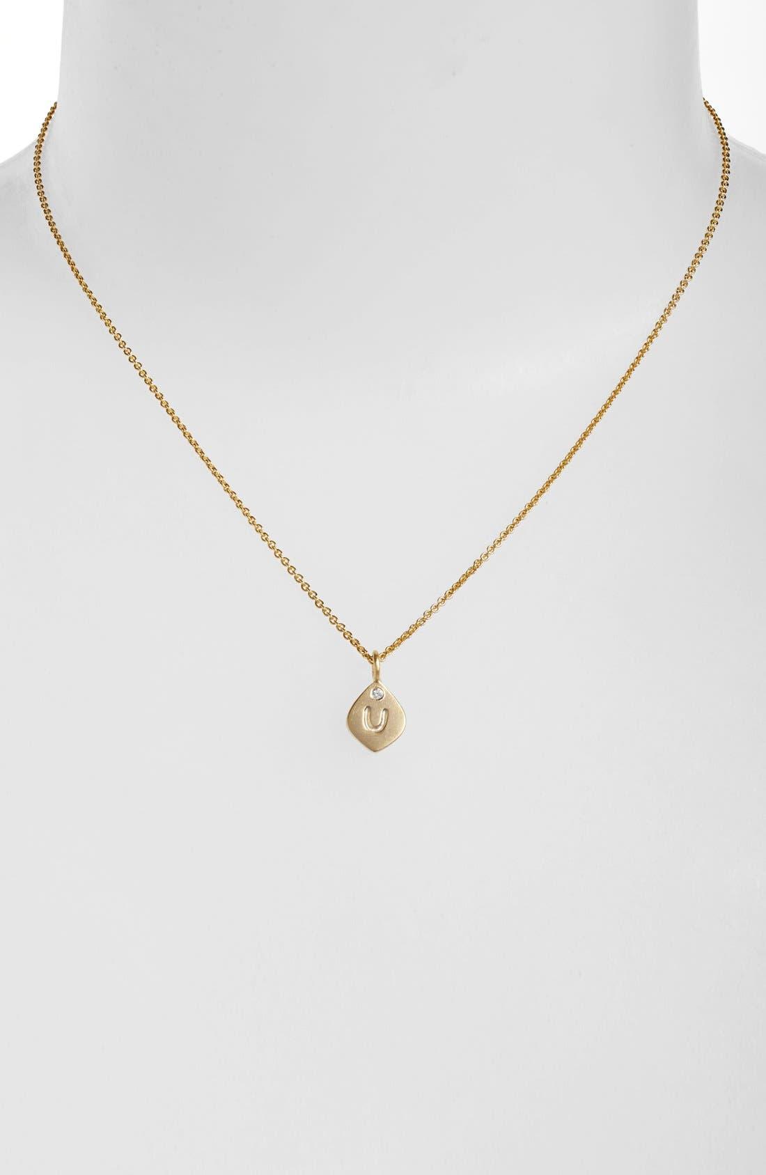 Alternate Image 1 Selected - NuNu Designs Small Initial Pendant Necklace