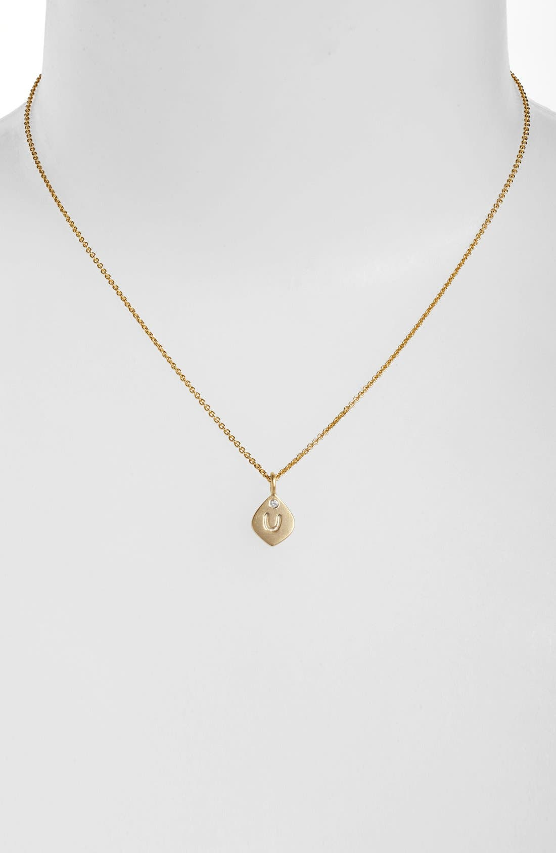 Main Image - NuNu Designs Small Initial Pendant Necklace