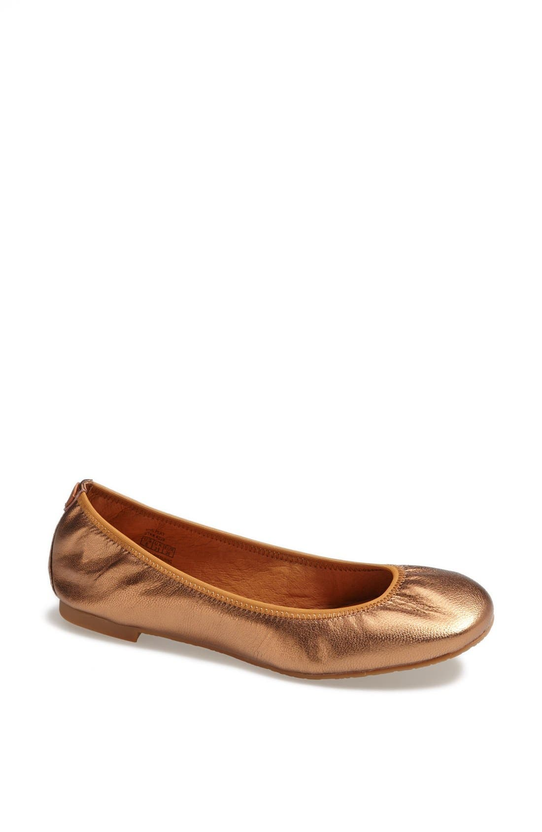 Alternate Image 1 Selected - Juil 'The Flat' Earthing Metallic Leather Ballet Flat