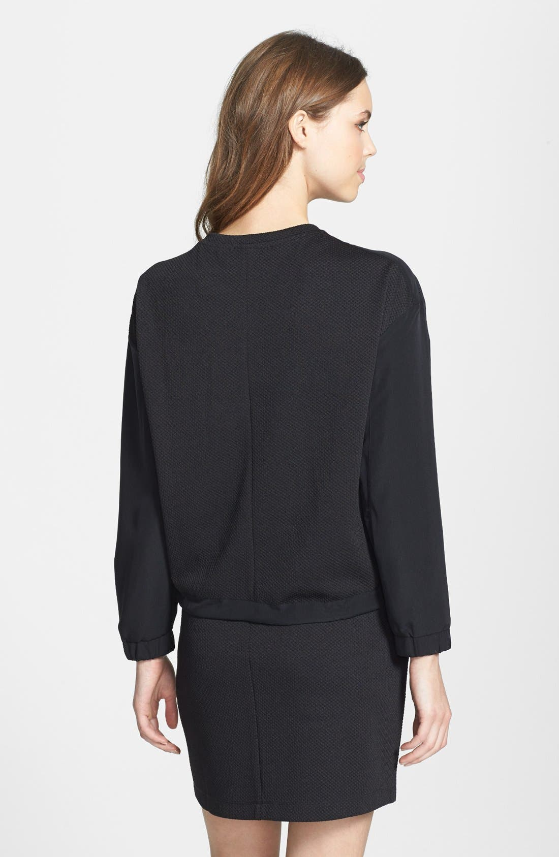 Alternate Image 2  - Two by Vince Camuto 'Tech' Waffle Knit Sweatshirt