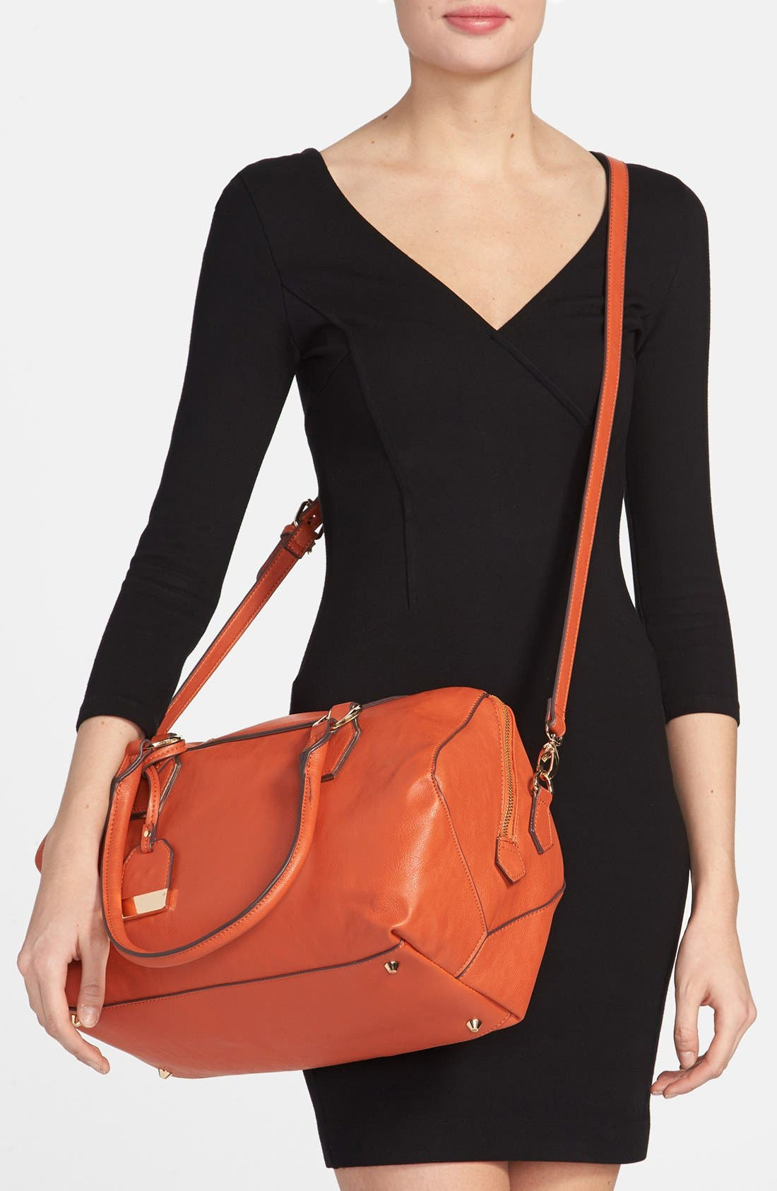 Alternate Image 2  - POVERTY FLATS by rian Faux Leather Satchel