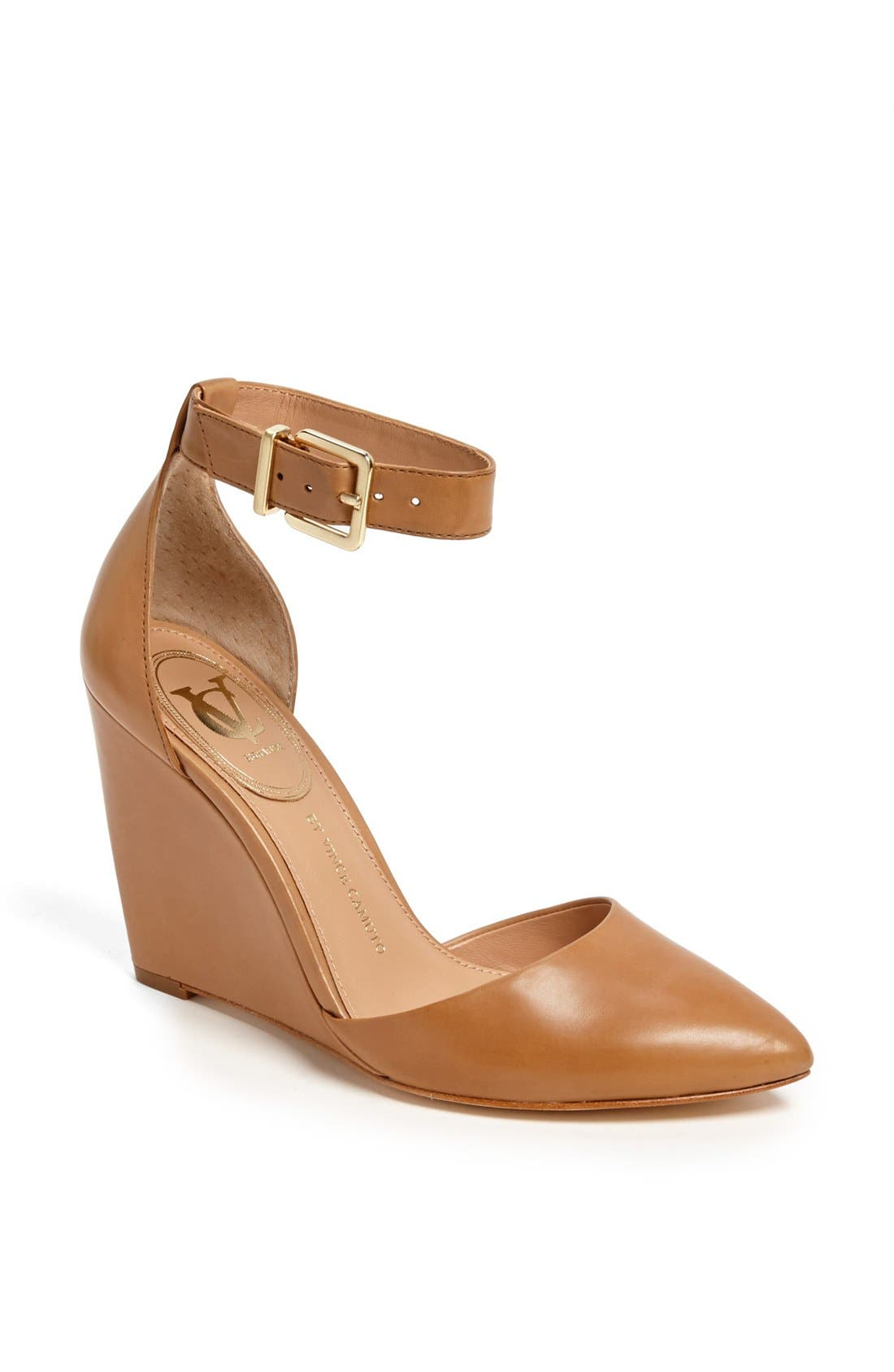 Main Image - VC Signature 'Solanna' Leather Wedge Pump