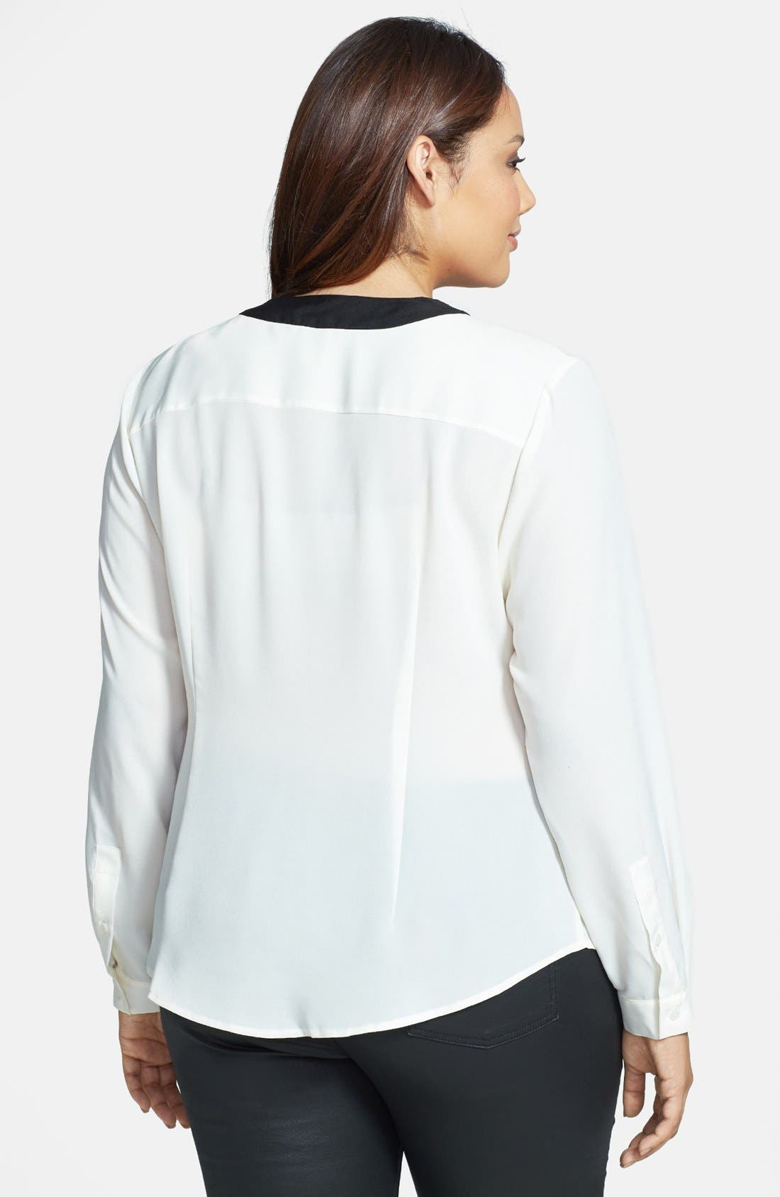 Alternate Image 2  - Anne Klein Bow Front Blouse (Plus Size)