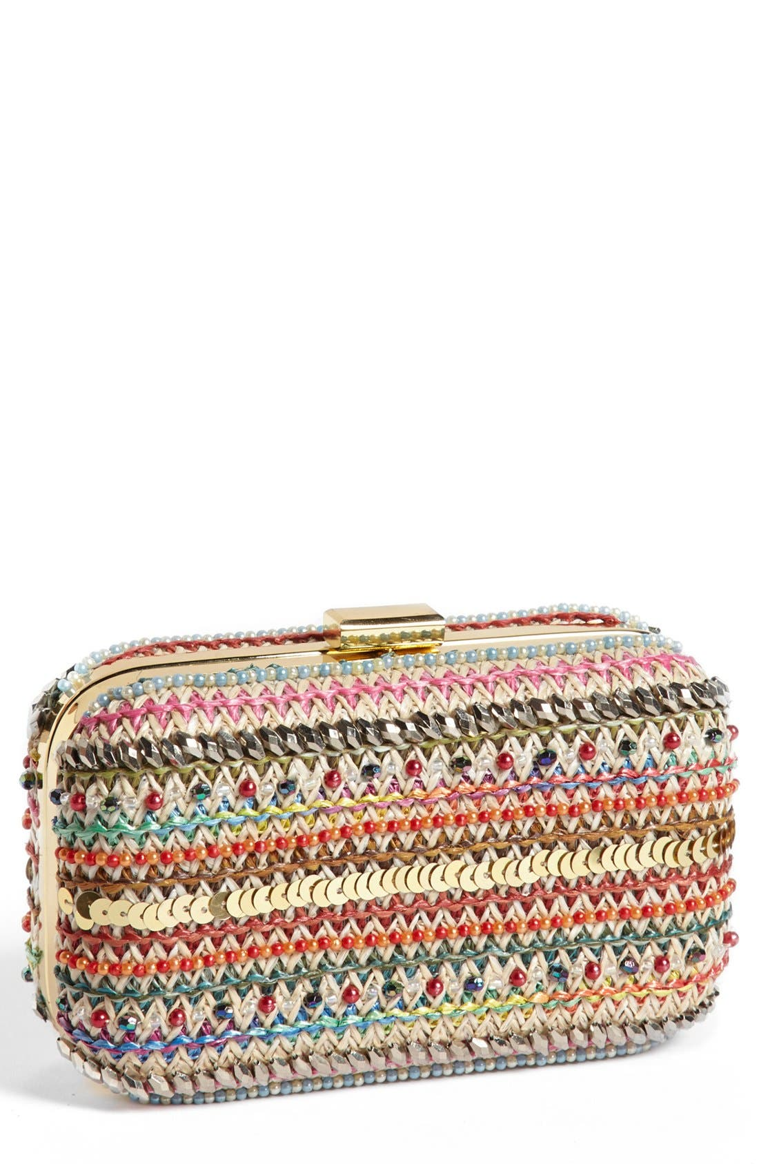 Alternate Image 1 Selected - Jessica McClintock Woven Minaudiere
