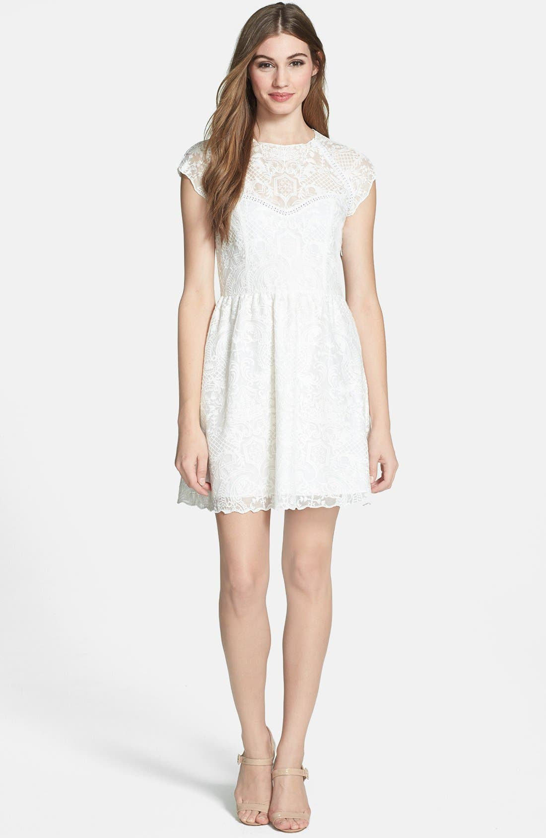 Alternate Image 1 Selected - Dolce Vita Embroidered Organza Fit & Flare Dress