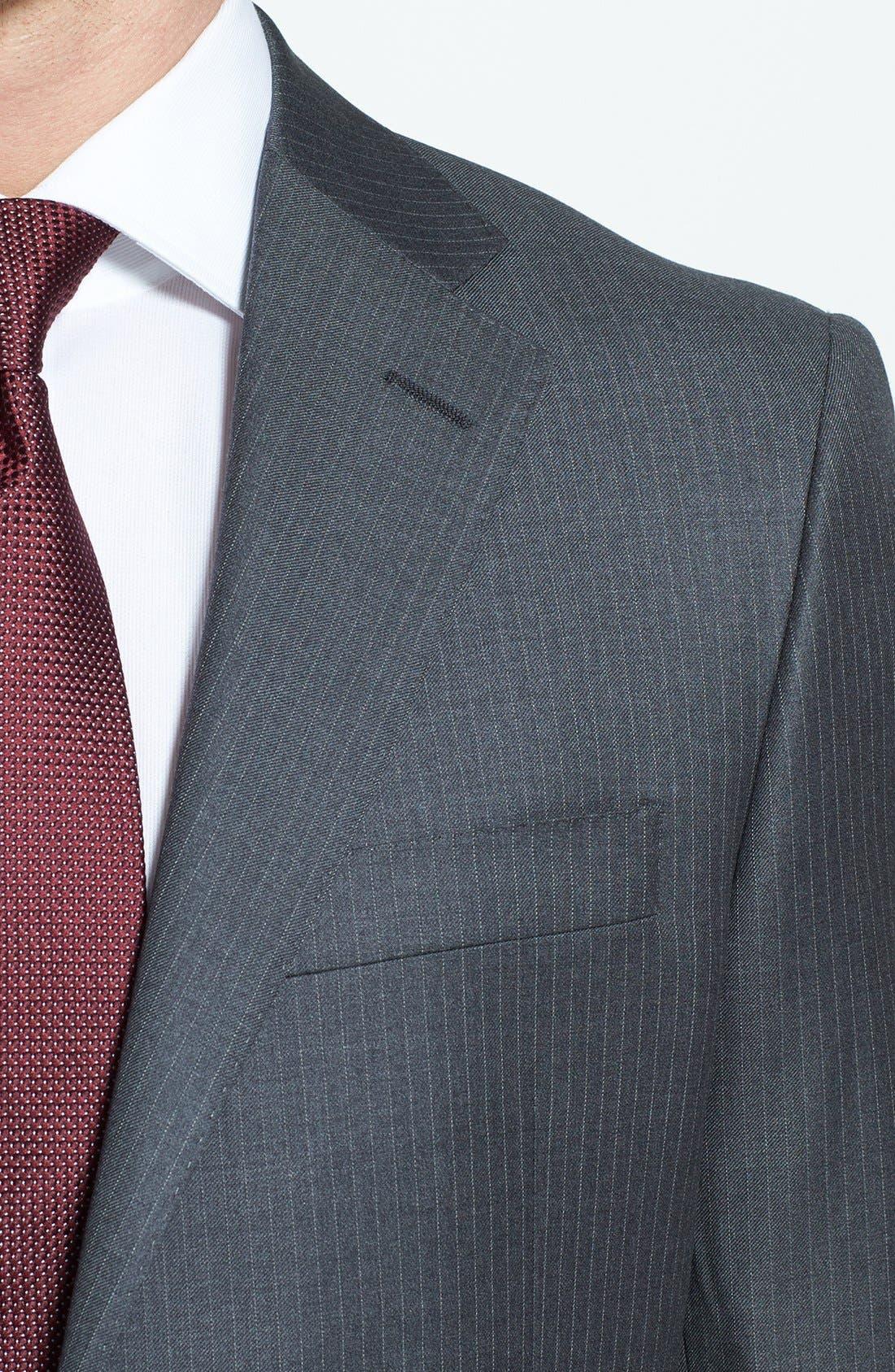 Alternate Image 2  - Hickey Freeman 'Beacon' Classic Fit Stripe Suit
