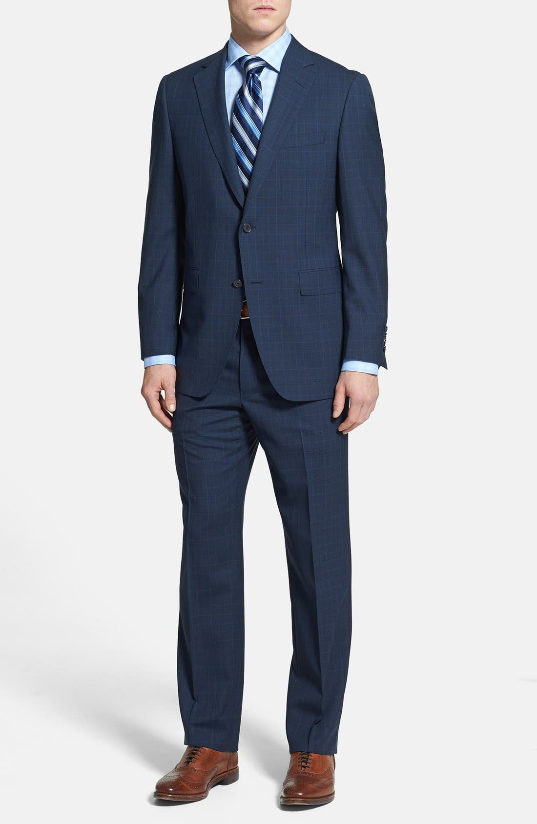 Main Image - Samuelsohn Classic Fit Plaid Suit