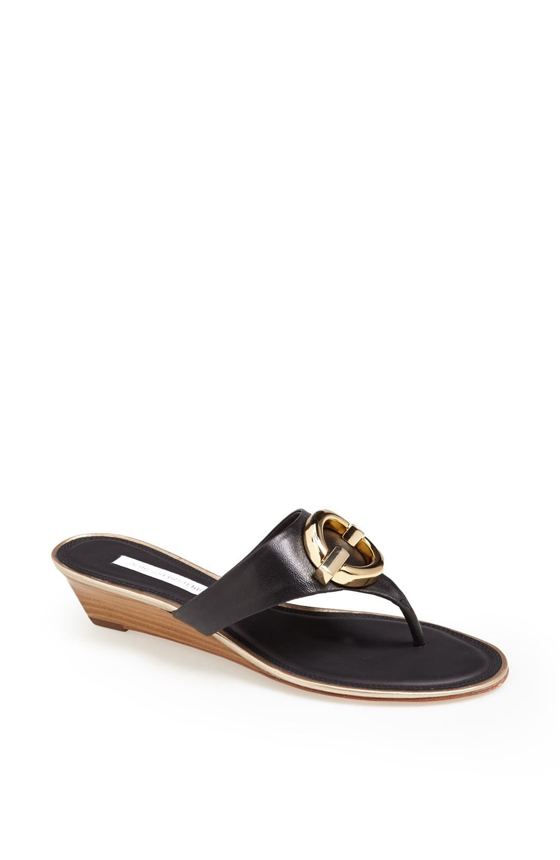 Alternate Image 1 Selected - Diane von Furstenberg 'Tiles' Leather Sandal