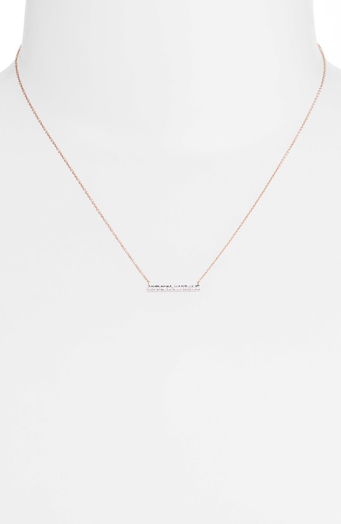 Alternate Image 2  - Dana Rebecca Designs 'Sylvie Rose' Medium Diamond Bar Pendant Necklace