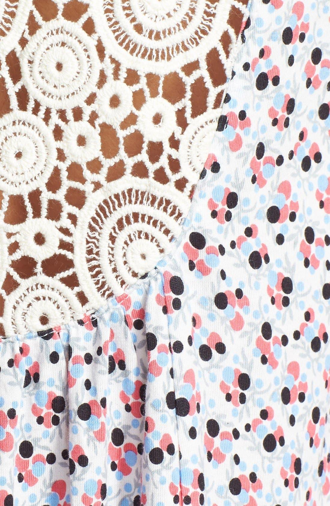 Alternate Image 3  - Midnight by Carole Hochman 'In the Garden' Crochet Chemise