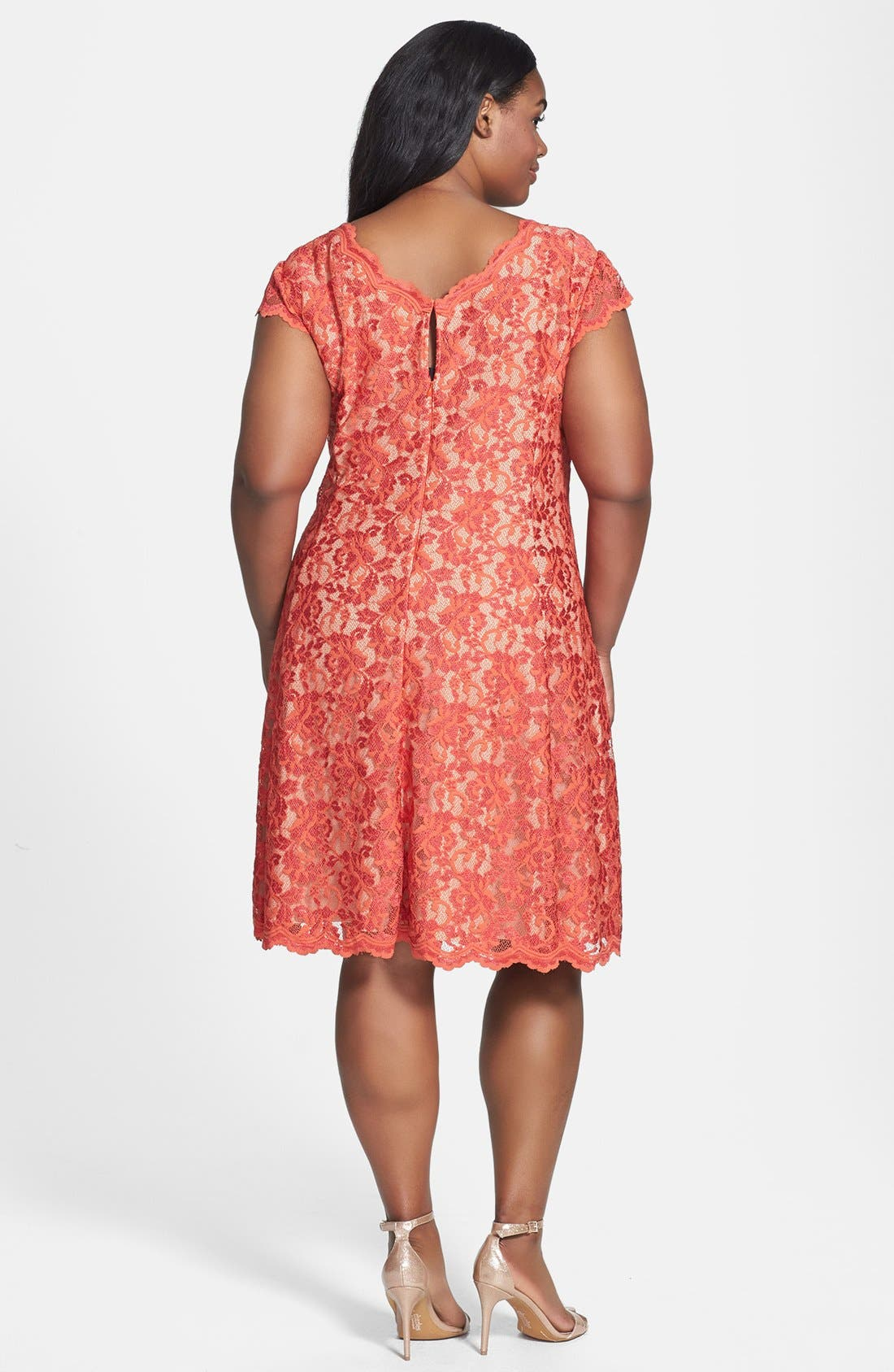 Alternate Image 2  - ABS by Allen Schwartz Lace Fit & Flare Dress (Plus Size)