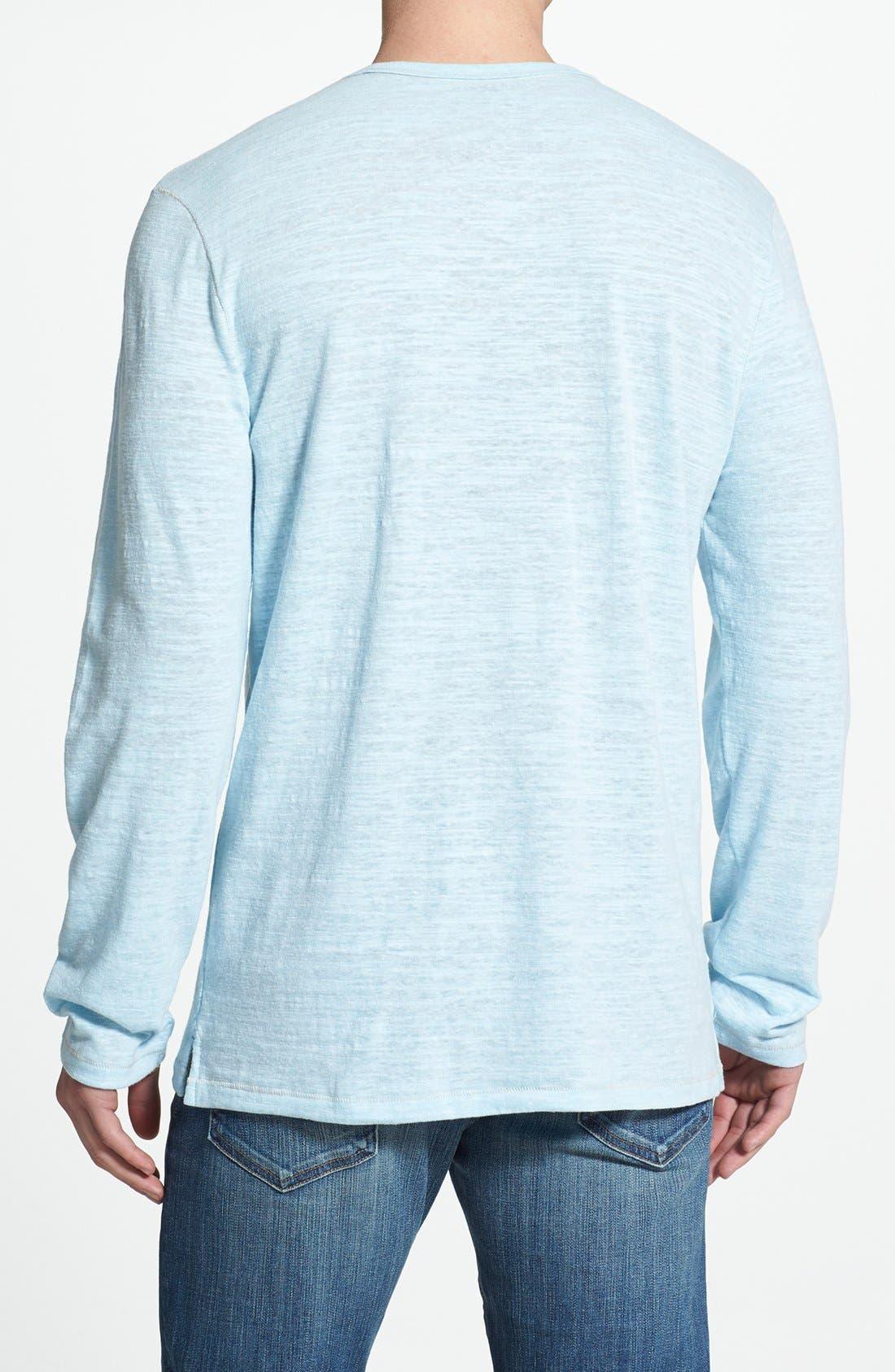 Alternate Image 2  - Tommy Bahama 'Sunday Best' Long Sleeve Heathered T-Shirt