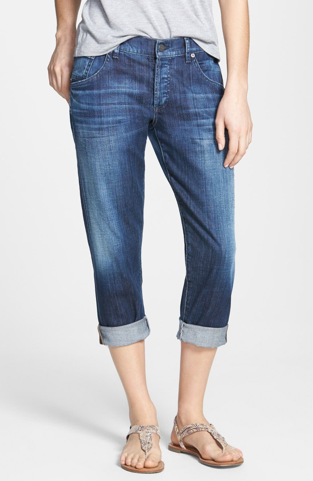 'Skyler' Crop Boyfriend Jeans,                         Main,                         color, Vista