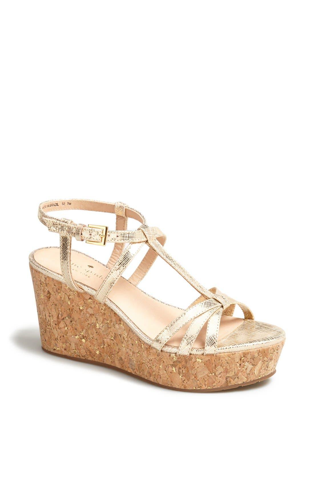 Alternate Image 1 Selected - kate spade new york 'tropez' wedge platform sandal