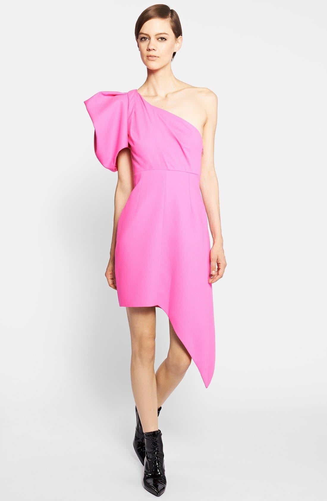 Main Image - Saint Laurent Puffed One-Shoulder Dress