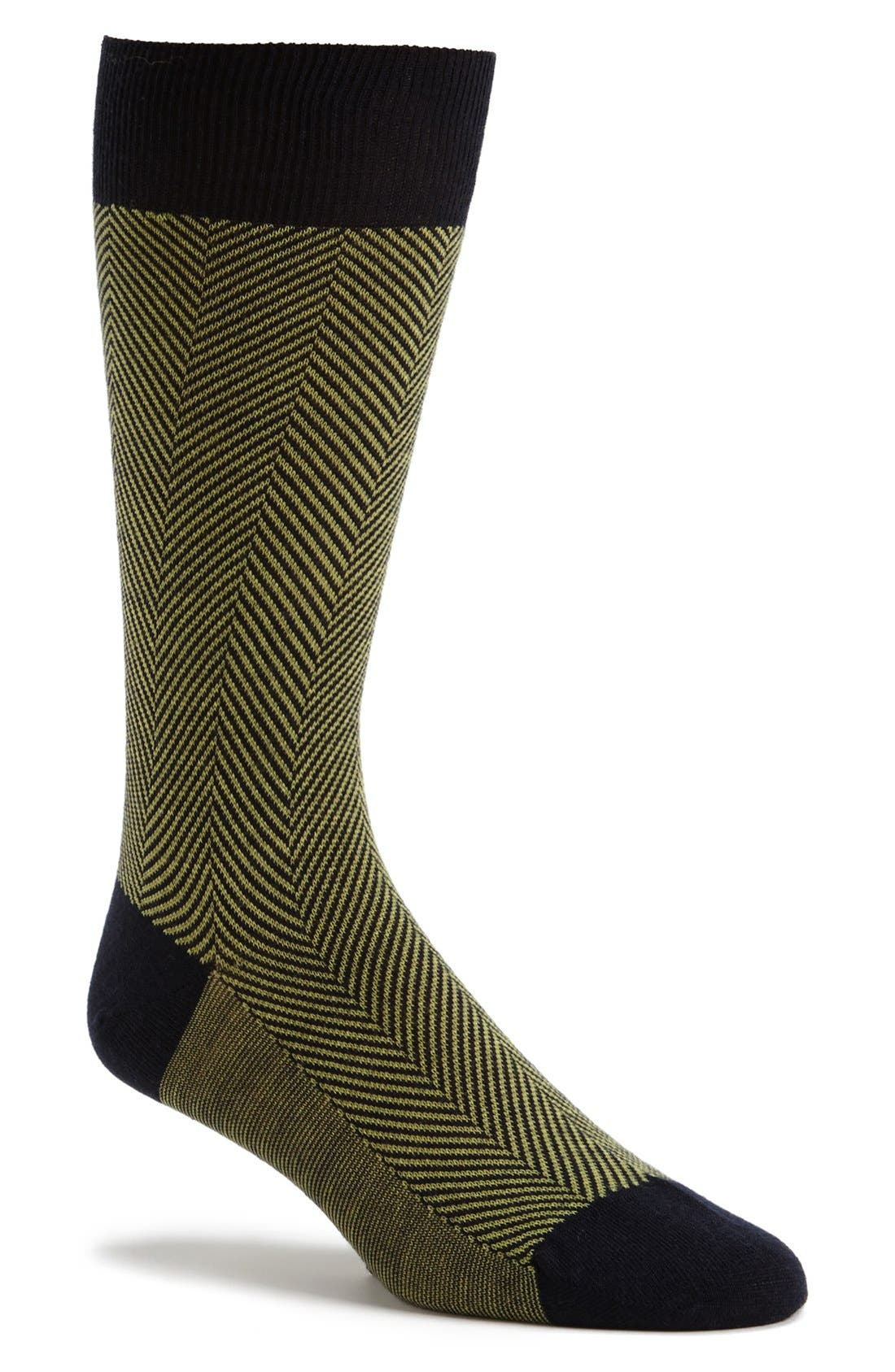 Alternate Image 1 Selected - Pantherella 'Hoxton' Herringbone Socks