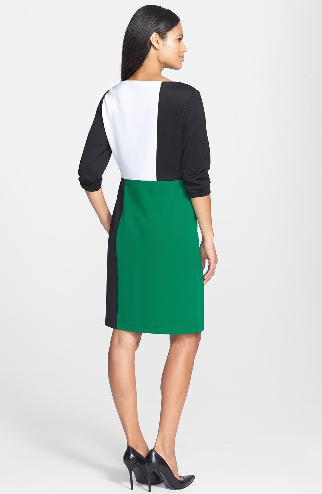 Alternate Image 3  - Isaac Mizrahi New York Colorblock Shift Dress