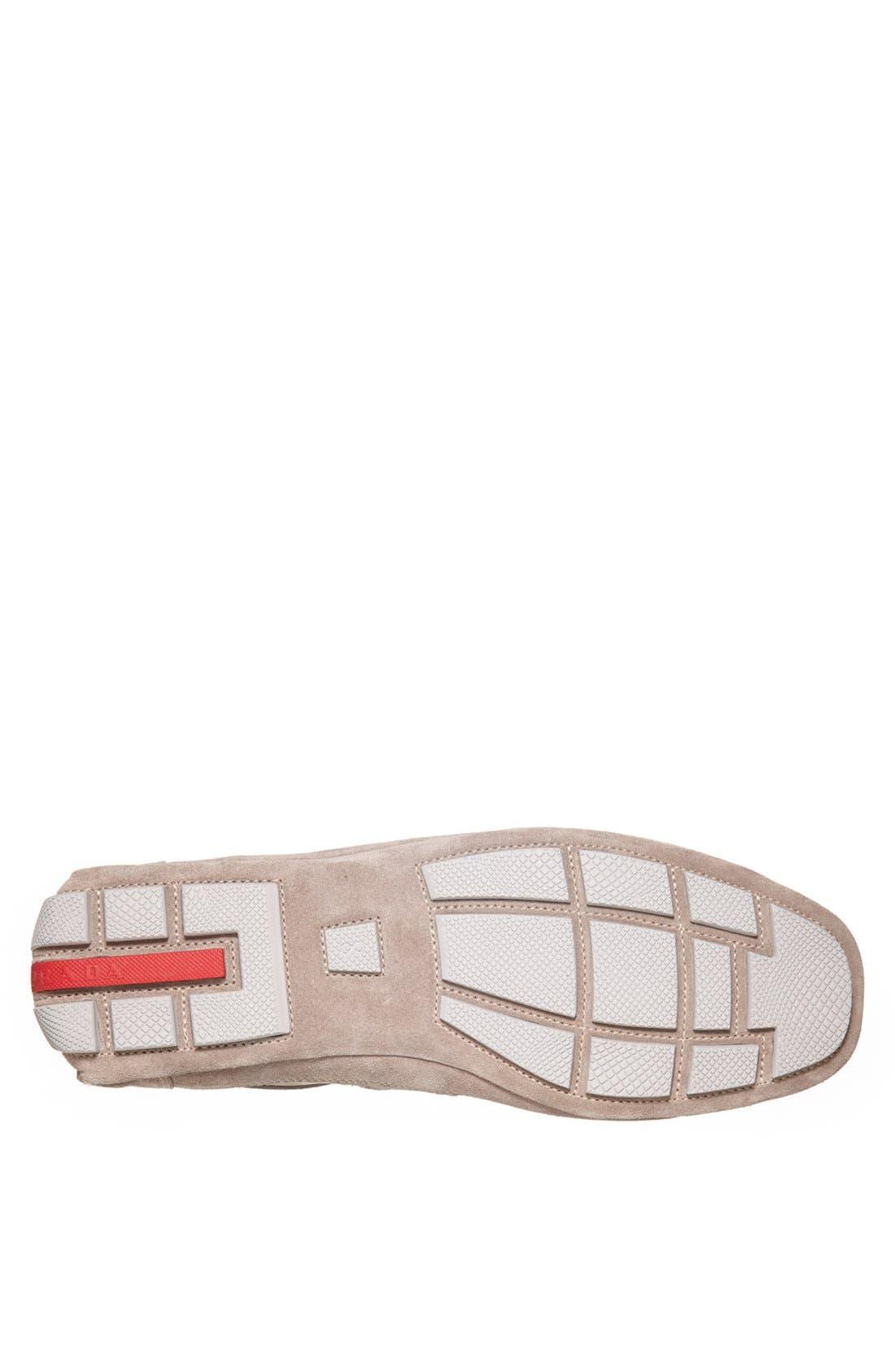 Alternate Image 4  - Prada Low Profile Suede and Nylon Sneaker